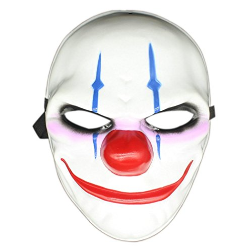 Cosplay Costume Masks, Halloween Fun Horrible Scary Mask Party Fools Clown Mask (Type 3)