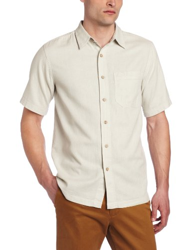 (Royal Robbins Men's Cool Mesh Short Sleeve Shirt, Soapstone, Small)