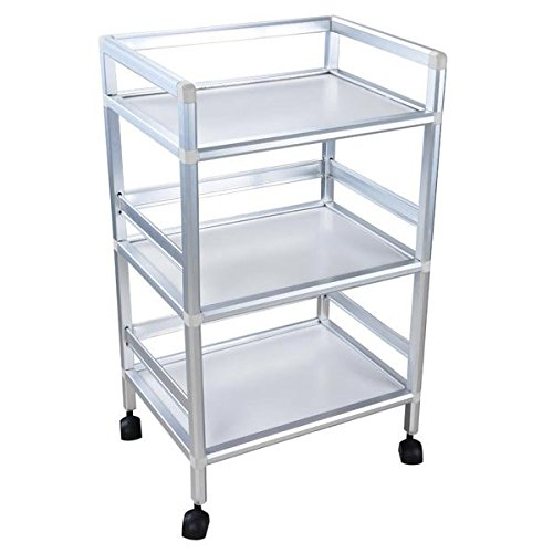 Price comparison product image AMPERSAND SHOPS 3-Tier Shelves Rolling Storage Utility Cart