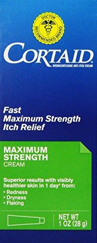 1% Cream Cortaid (Cortaid Itch Relief Maximum Strength, 4 Count)
