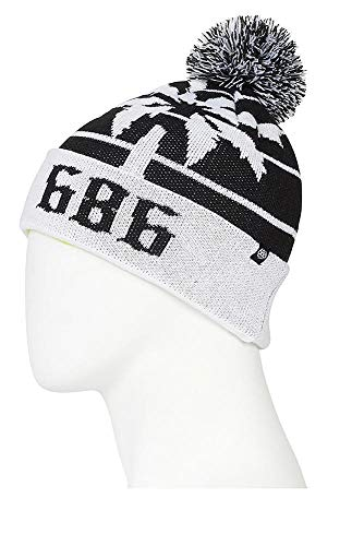 - 686 Men's Throwback Pom Beanie | One-Size | Black