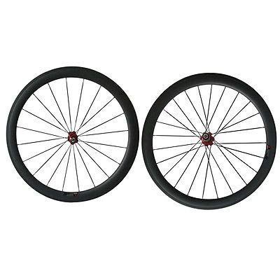 FidgetFidget Wheels Full Carbon 700C Road Bike Wheels U Shape 25mm Width 50mm Tubular Carbon