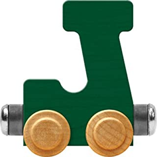 product image for Maple Landmark NameTrain Bright Letter Car J - Made in USA (Green)
