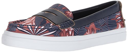 (Cole Haan Women's Pinch Weekender LX Loafer Flat, Tropical Print Satin/Marine Blue, 11 B US)