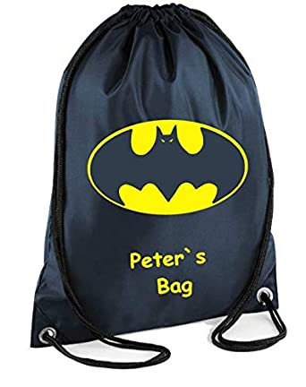 School Boys Batman Lego Drawstring Bag Swimming Sports School PE