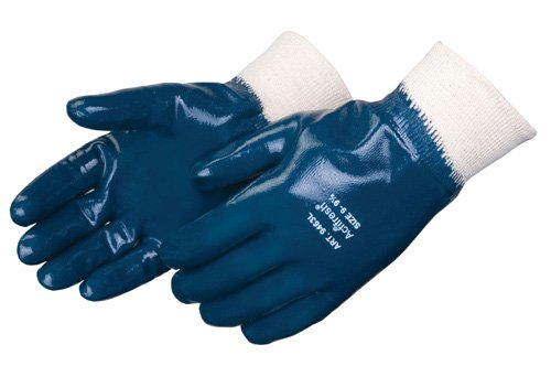 Liberty 9463SP Nitrile Heavyweight Fully Coated Glove with Knit Wrist, Chemical Resistant, X-Large, Blue (Pack of 12)