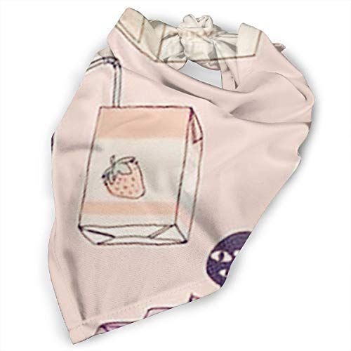 Pet Scarf Dog Bandana Bibs Triangle Head Scarfs Milk Bottle Pink Accessories for Cats Baby Puppy ()
