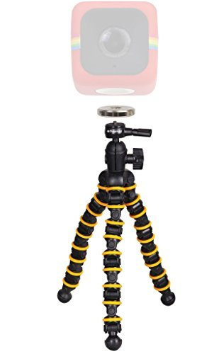 Polaroid Snap and Wrap Flexi Tripod with 360° Rotating Ball Head + Polaroid Magnet to Tripod Adapter Mount For Polaroid Cube Cube+ Action Camera Mount Your Cube To The Flexi Tripodの商品画像