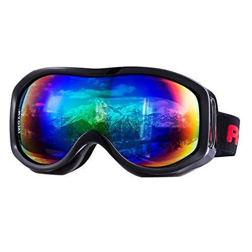 RYOMI OTG Ski Goggles Over Glasses Snowboard Goggles Anti Fog UV Protection Snowmobile Skating for Men and Women