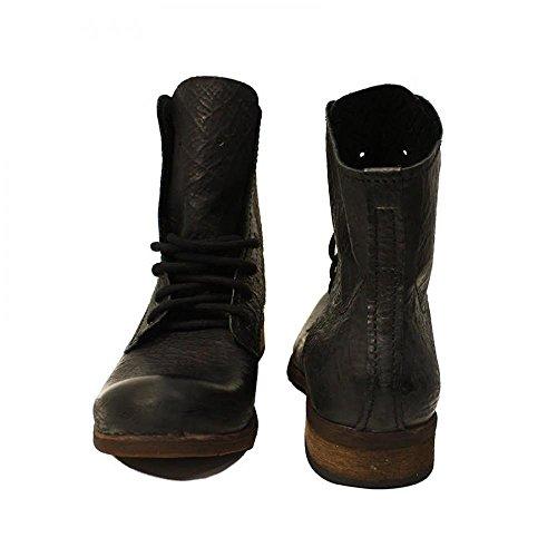 PeppeShoes Modello Vecchio - Cuero Italiano Hecho A Mano Hombre Piel Negro Botas Altas - Cuero Cuero Suave - Encaje