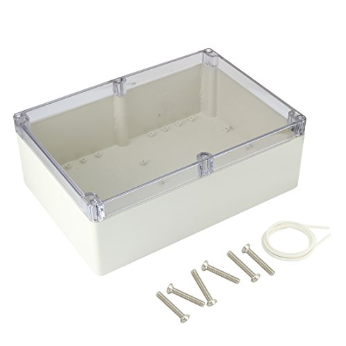 uxcell 10.4'x7.2'x3.74'(263mmx182mmx95mm) ABS Junction Box Universal Project Enclosure w PC Transparent Cover