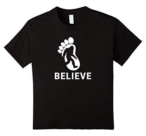 Kids I Believe Bigfoot Shirt 12 Black (Bigfoot Costumes For Kids)