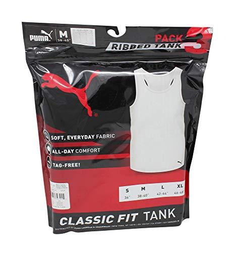 PUMA Men's 3 Pack Ribbed Tank Tops