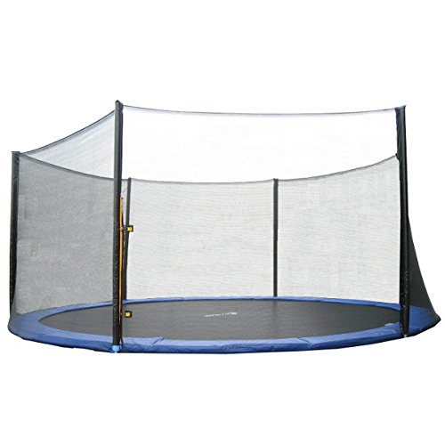 Exacme 14 Foot Trampoline Replacement Outer Enclosure Net with 6 Poles (T-Series,N014)