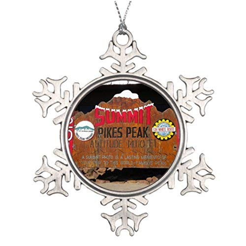 Pewter Christmas Decorations - Delia32Agnes Pike's Peak Summit Colorado Tree Garland Snowflake Christmas Ornaments Pewter for Christmas Decorations