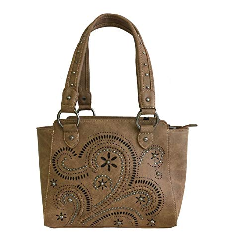MW250G-8250 Montana West Concealed Handgun Collection Handbag Brown