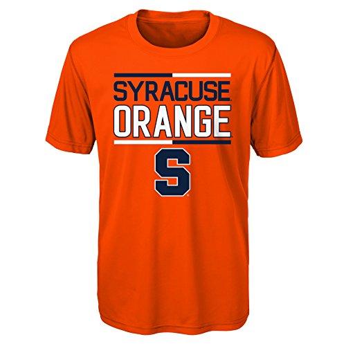 OuterStuff NCAA Syracuse Youth Boys Flag Runner Performance Short sleeve Tee, M(10-12), - Orange Youth Syracuse T-shirt