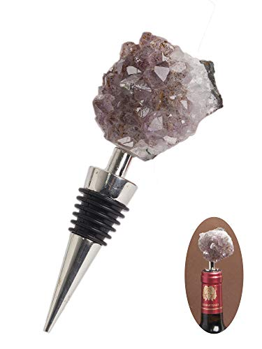 - Amethyst Cluster Geode Stoppers Crystal Stone Bottle Wine Stopper 1P 4