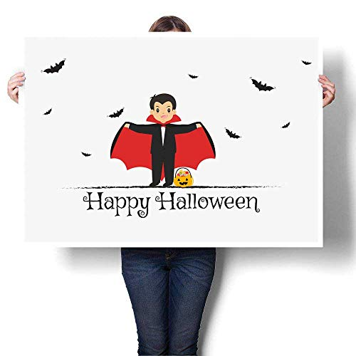 Anyangeight Abstract Painting Happy Halloween Card Design Scary