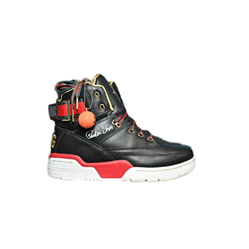 Fila Men's Ewing Aloysius Hi X Packer Fabolous Athletic Sneakers, Black Leather, 7 M