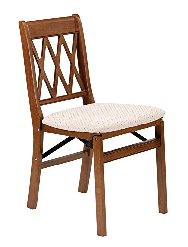 Stakmore Lattice Back Folding Chair Finish, Set of 2, Fruitwood by MECO