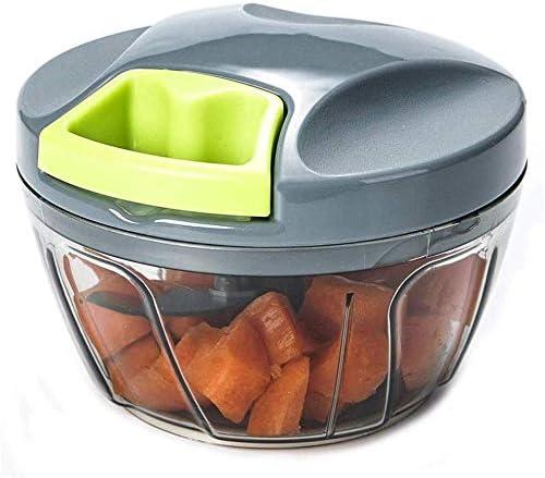 XYNB Picador de Alimentos Potente triturador Manual de 3 Tazas ...