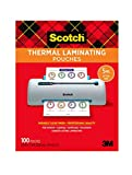 Scotch Thermal Laminating Pouches, 5 Mil Thick for