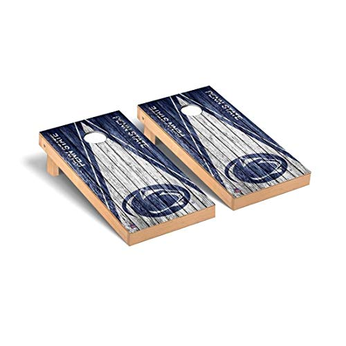 (Victory Tailgate Penn State Nittany Lions Regulation Cornhole Game Set Triangle Weathered Version)