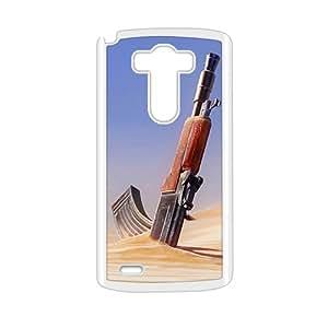 Desert Gun White Phone Case for LG G3