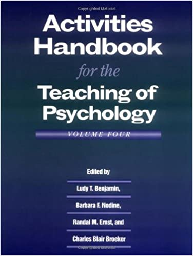 Amazon.com: Activities Handbook for the Teaching of Psychology ...