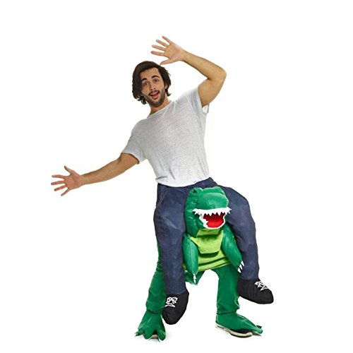 Morph Unisex Piggy Back Dinosaur T-REX Piggyback Costume - With Stuff Your Own Legs