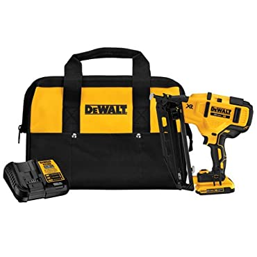 DeWalt DCN660D1 20-Volt Max 16-Gauge Cordless Angled Finish Nailer Kit