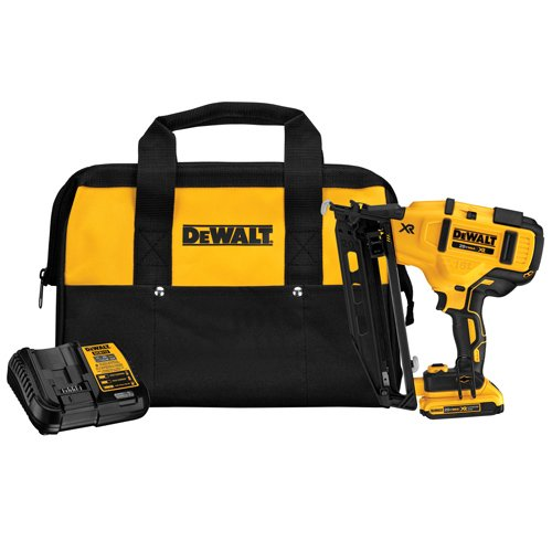DEWALT, DCN660D1, 20V MAX 16GA Angled Finish Nailer KIT