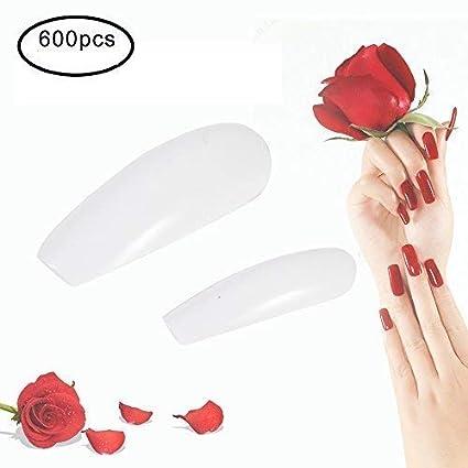 Fake nails, Uñas postizas, 600 piezas ataúd uñas clavo de la extremidad del clavo de la ...