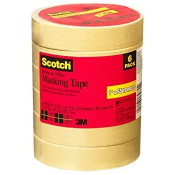 2 x Scotch 3437-6-MP Home and Office Masking Tape, 1-Inch x 55-Yards, 6 Rolls