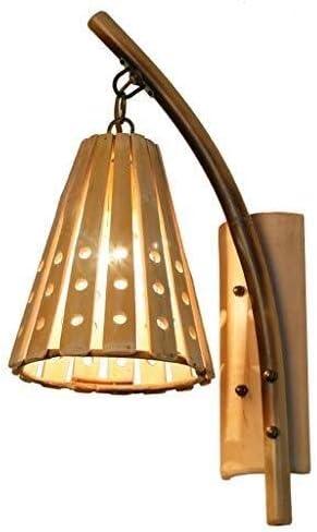 Lámpara de pared Creativa lámpara de Noche Retro Dormitorio Pasillo de la lámpara de bambú Hueco ático escaleras inalámbrica: Amazon.es: Hogar
