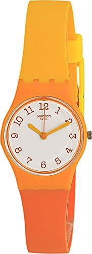 Swatch Men's Beach Dream LO112 Orange Rubber Swiss Quartz Fashion - Swatch Orange