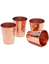 Sertodo Copper Hand Hammered Pure Copper Sharpshooter 2 5 Oz Shot Cup Flight Set Of 4