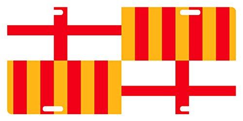 Flag Barcelona Car - BARCELONA City Flag Custom License Plate España Spain Emblem Original Version