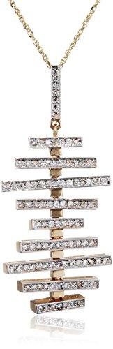 Mateo NYC Collier Or Jaune 14carats (585/1000) Ronde Diamant Blanc Femme 45.72cm