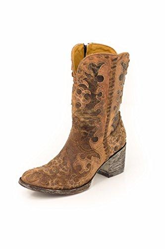 OLD GRINGO Boots Widow Maker Zipper Brown/brass L1415-2 (7)