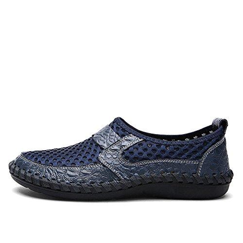 Lett Menn Flat Menns Mesh Sandaler Blå Flop For Hæl Dagdriver Ensfarget Flip Shoppe Aurlandssko f7frqF