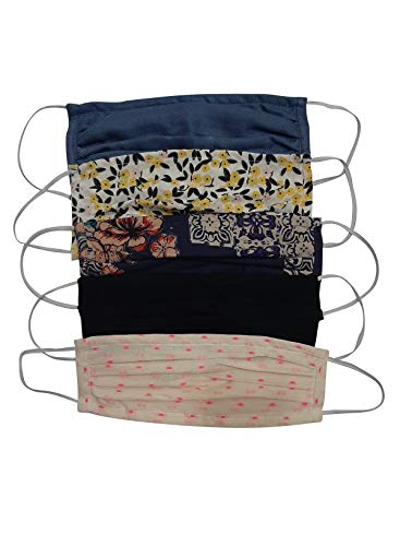 Aditi Wasan AW-MSKDRCT009-5 Pack of 5 Unisex Cotton Double Layer Printed Multi Color Face Mask - Assorted Colors & Prints (B087RPTTG2) Amazon Price History, Amazon Price Tracker