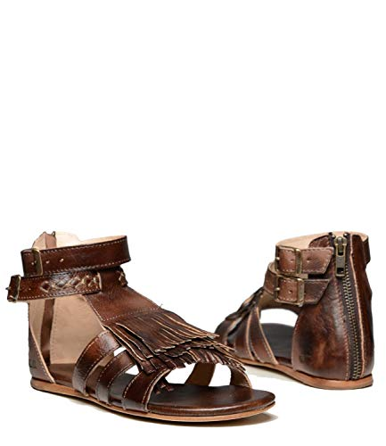 Image of Bed|Stu Alena Leather Sandal (9 B(M) US, Teak Rustic)