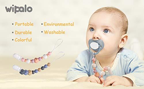 Chupetes Clip de Silicona Para Beb/é Regalo Para Bolso Chupete Mordedor de Silicona Wipalo Cadenas para Chupetes sin BPA