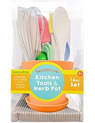 The Little Cook Kitchen Tools in Herb Pot
