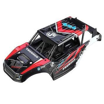 蓝色 KEYREN 1:28 Modelo Car Body Shell Frame Piezas de actualizaci/ón Accesorios Ajuste para Iw02 RC Entusiastas modificados manualmente