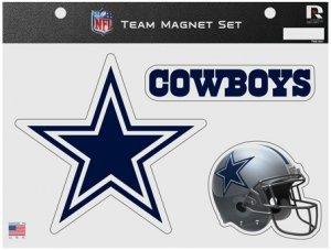 Rico Industries NFL Dallas Cowboys Die Cut Team Magnet Set Sheet ()