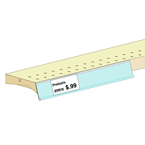 ClearVision White PVC Economy Label Holders with Adhesive 1 1/4