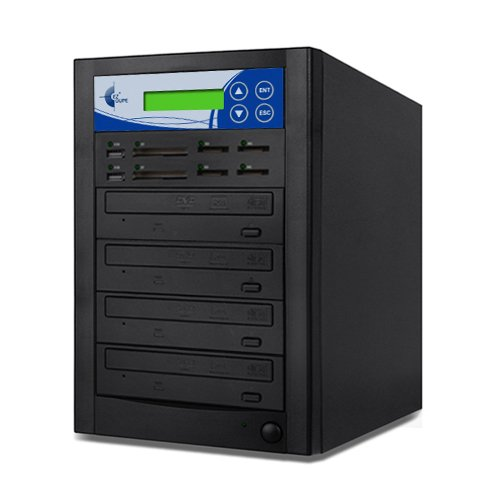 Image of CD & DVD Drives EZ Dupe Media Mirror Plus 3-Target DVD CD and Flash Memory Card Duplicator Copier MMP03